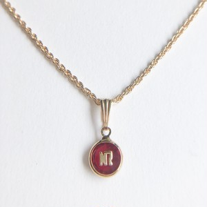 """""""NINA RICCI"""" red necklace[n-265]ヴィンテージネックレス"""