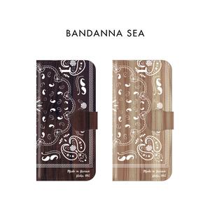 【名前入れ/手帳型】BANDANNA SEA