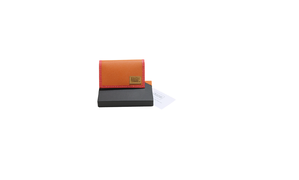 "×MISAWA & WORKSHOP CARD CASE ""HERMES LEATHER ORANGE"""