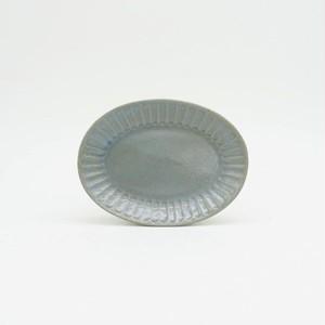 パンとごはんと... (Bread and Rice) ひらひらの器 OVAL MINI PLATE (オーバルミニプレート) 【ブルー】