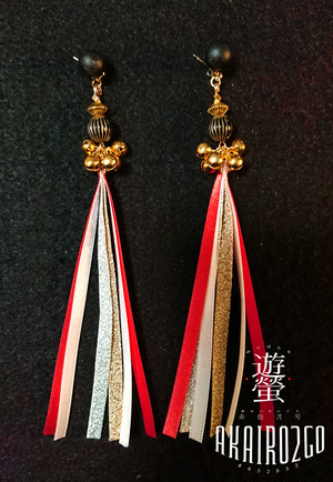 鈴緒耳飾り-道化師 明-
