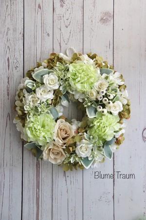 ★Blume Traum★ウェディング・誕生日ギフトに!★グリーン系リース