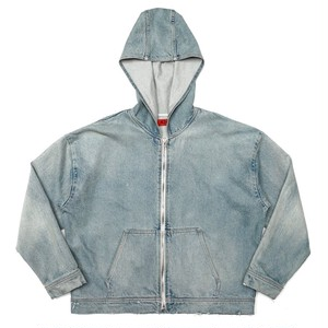 424 on Fairfax OVERSIZED DENIM HOODIE