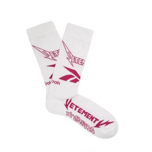 VETEMENTS / METAL LOGO SOCKS / White