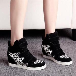 【sneaker】Korean style PU leopard print high cut sneaker