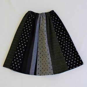 久留米かすりパッチワークミドル丈スカート