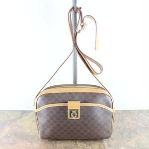 OLD CELINE LOGO PATTERNED SHOULDER BAG MADE IN ITALY/オールドセリーヌロゴマカダム柄ショルダーバッグ
