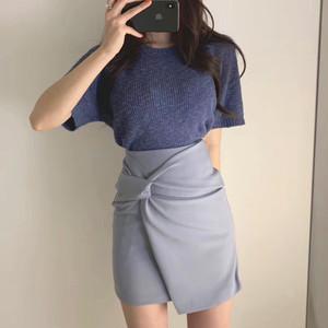 【ボトムス】韓国INS気質よいハイウエストイレギュラータイトスカート19102350