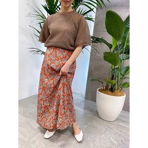 【予約販売】R230704 リゾート花柄ロングskirt