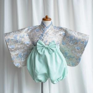 【90-100cm】koromo袴 雪輪アイスブルー×ミントグリーン