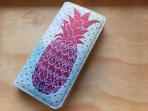【Pineapple No,3】ハワイ パイナップル 長財布 【ウォレット】レディース財布 ハワイアン雑貨 ラウンドファスナー