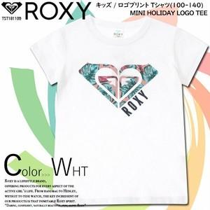 TST181109 ロキシー Tシャツ キッズ 女の子人気 ブランド 半袖 トップス キッズ 110 120 130 140 夏 ロゴ ホワイト ROXY