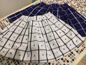 先染めチェック花JQスカート (S118026)