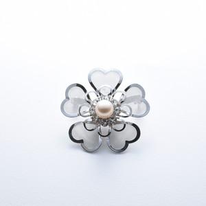 Vintage Akoya Brooch flower 8.5mm