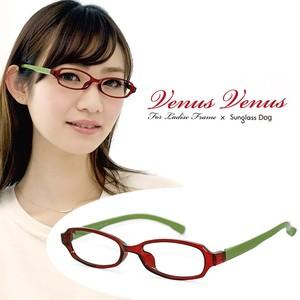 メガネ レディース 9134-4 女性用 眼鏡 おしゃれ オーバル型 オシャレ 人気 venus×2 TR-FRAME