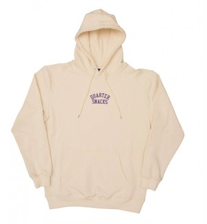 QUARTERSNACKS Embroidered Arch Hoody Cream M