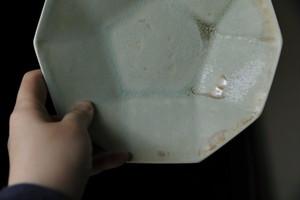 0579 根本幸一 ジョンソン皿M 白緑|群青色