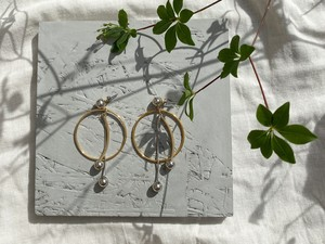 metal ball hoop pierce/earrings