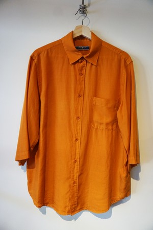BOTANICAL DYE HALF SLEEVE SHIRT[ORANGE . CHARCOAL]