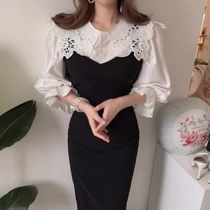 french collar dress set