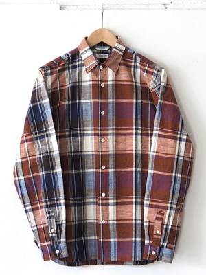FUJITO Madras B.D Shirt Check