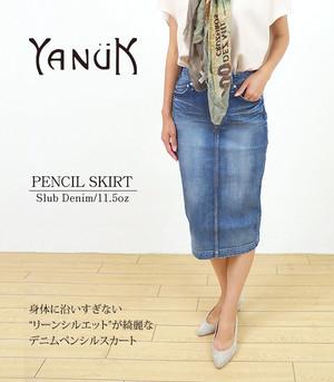 YANUK ヤヌーク  デニムスカート Pencil skirt 57183031 BIN  日本製 MADE IN JAPAN