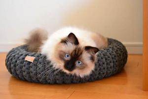 猫用ラウンドベッド Mサイズ/ minas