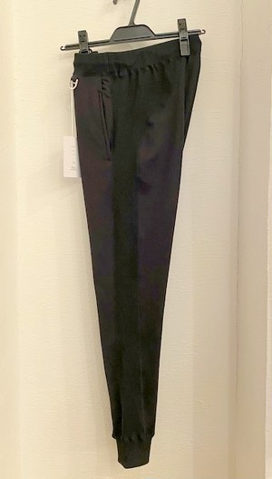 Fleece Rib Easy Pants Black