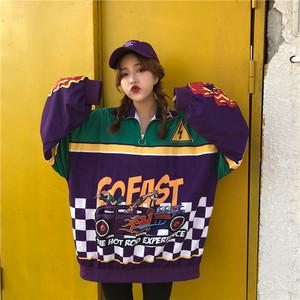 【トップス】カジュアル春秋プリントストリートファッション韓国系長袖パーカー
