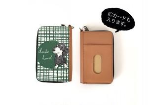 ダックスフントのコンパクト財布