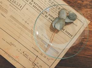 古いガラスの器(No.31185)