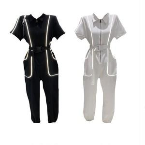 リフレクティブラインベルトジャンプスーツ(White,Black) 90