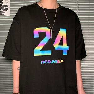 オーバーサイズリフレクタープリントTシャツ