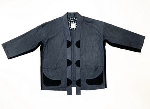 19SS 甘織り綿麻キモノシャツ / Loose weave linen cotton kimono shirts