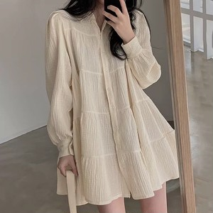 mini dress shirt top 2color