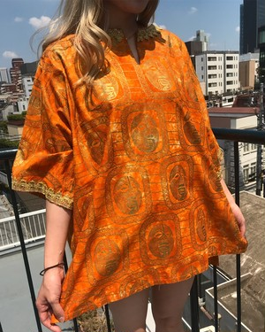 Vintage african face print tunic