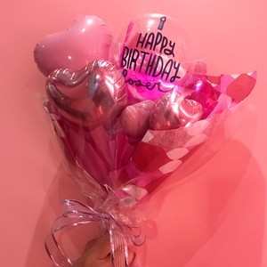 【Stick bouquet】Birthday CANDLE HEART