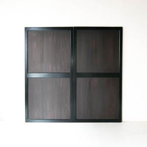 黒枠黒板すっきりとした帯戸 2枚組