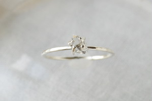 ハーキマーダイヤモンドのリング・シルバー