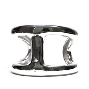 """Hermès Vintage Sterling Silver """"Osmose"""" Bangle"""