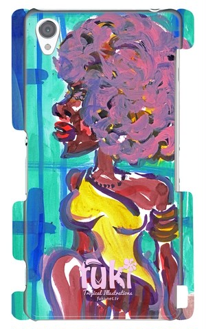 """XPERIA Z3 ケース """"Afro doll"""""""