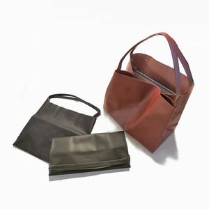 軽くて薄い牛革のバッグ L BAG  small BK(黒)