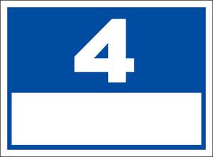 シンプル看板「番号票4(白窓付)」屋外可・送料無料