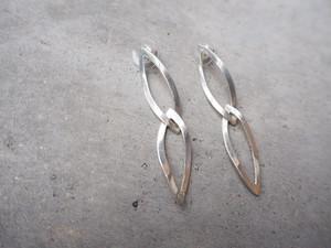〈vintage silver925〉link leaf pierce
