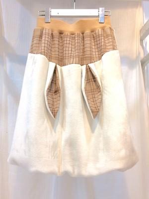 NIGATSU うさバルーンスカート Off beige
