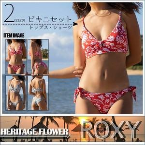 RSW202004 ロキシー 水着 ビキニ レディース 通販 人気 ブランド 可愛い かわいい 赤 緑 レッド グリーン 花柄 フラワー柄 M ビーチ リゾート ナイトプール 旅行 ROXY