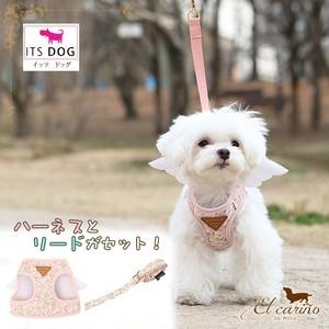 10。ITSDOG【正規輸入】犬 服 ハーネス リード ピンク 花柄 春 夏 秋 冬