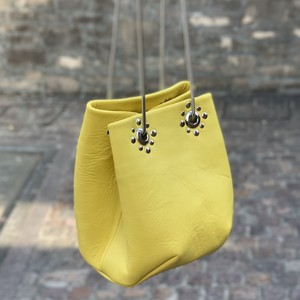Studs Chain Bag《yellow》