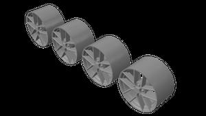 3Dモデルデータ 1/64 ホイール TSW Geneva タイプ