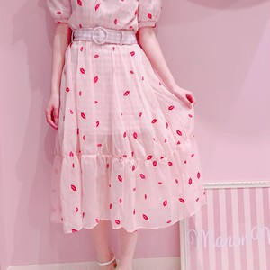 【ManonMimie】Lip x Gingham Skirt